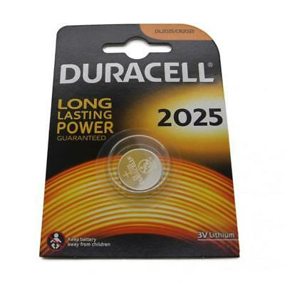 Duracell CR2025 3V Lithium Button Battery Coin Cell DL/CR 2025 Expiry 2026