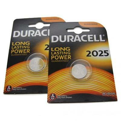 2x Duracell CR2025 3V Lithium Button Battery Coin Cell DL/CR 2025 Expiry 2026