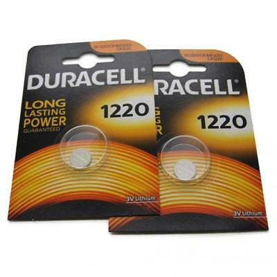 2x Duracell CR1220 3V Lithium Button Battery Coin Cell DL/CR/BR 1220 Expiry 2026
