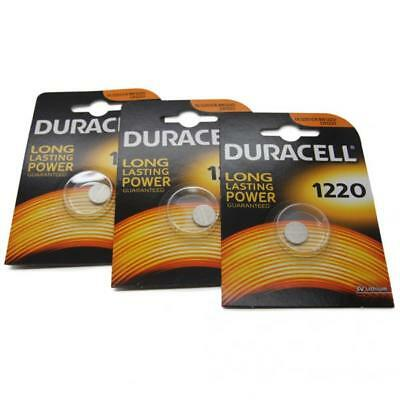 3x Duracell CR1220 3V Lithium Button Battery Coin Cell DL/CR/BR 1220 Expiry 2026