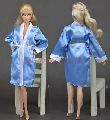 Bathrobe Robe Clothes Bedroom Pajamas Robe + Shorts Pant for Barbie Ken Doll