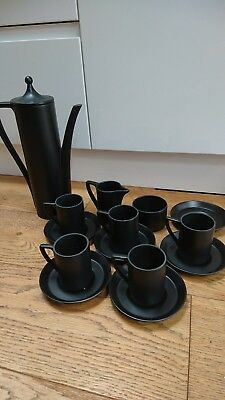 Vintage Retro 1960's Black coffee set