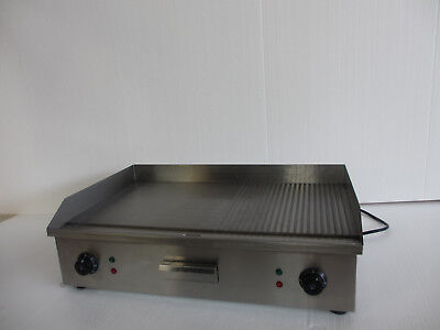 2018 Double Multi(FLAT/RIBBED) Commercial Electric Griddle BBQ 73CM BRE 10/1