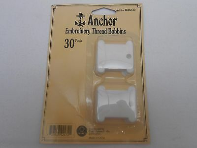 Anchor Embroidery Thread Bobbins Plastic 30 in a pack