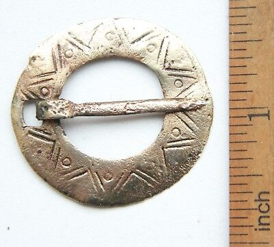 Ancient Old Ornament Bronze Fibula Brooch (JAN01)