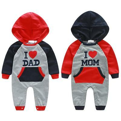 Newborn Baby Boys Girls Infant Cotton Romper Jumpsuit Bodysuit Clothes Outfit UK