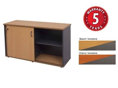 Rapid Worker Sliding Door Credenza Adj Shelves Lockable 2 Keys 3 Sizes PU