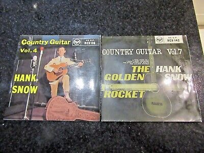 "HANK SNOW ""COUNTRY GUITAR VOL. 4 / VOL. 7"" 2 x RCA UK 7"" EP"