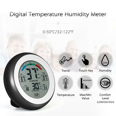 Digital Thermometer Hygrometer Humidity Temperature Monitor Meter Gauge