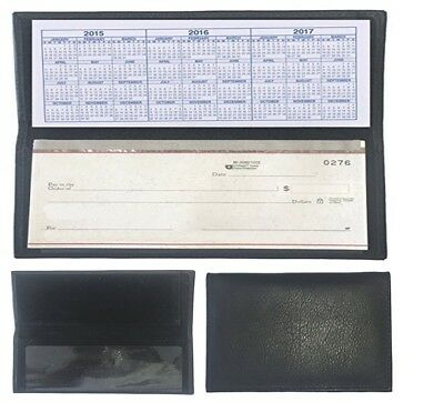 Amazing Black Classy Leather Checkbook Cover Good Beneficial Useful For Business