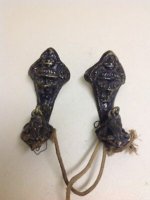 2 Cast Iron Arms for Antique Wall Sconces Ornate ~ Lamp Parts