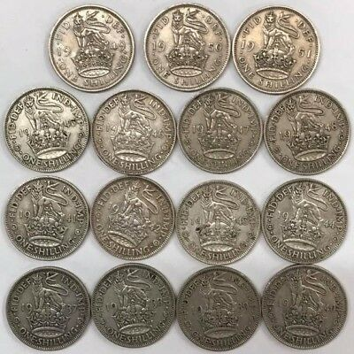 Shilling Date Runs From 1920 To 1966 English And Scottish Inc Rares