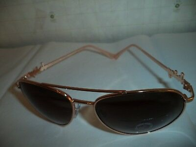 $150 Juicy Couture Authentic Aviator Rose Gold Logo Frame NWOT Ladies Sunglasses