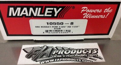 manley 10550-8 2.02 Budget Performance Small Block Chevy Stainless Intake Valves
