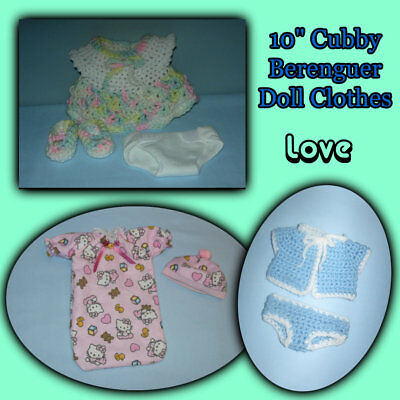"""10"""" Chubby Berenguer Lots to Love BABY DOLL CLOTHES Handmade the Crafty Grandmas"""