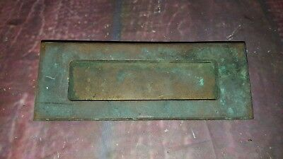 Vintage Victorian Antique Brass Solid Letter Plate Box Door Ornate Decorative