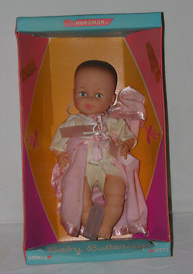 """Vintage 1967 Horsman Baby Buttercup Doll with Box Orig Clothes & Pink Wrap 13"""""""