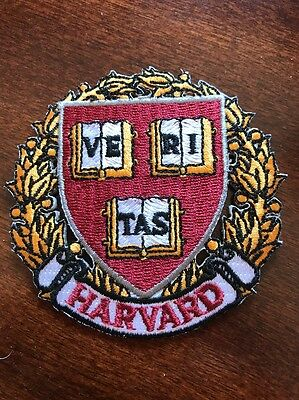 """Harvard University Vintage Embroidered Iron On Patch  3"""" x 3"""" IVY LEAGUE SCHOOLS"""