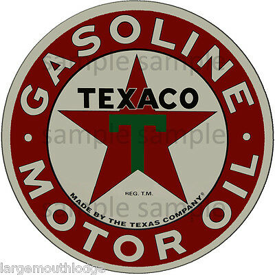2 INCH TEXACO MOTOR OIL GASOLINE WATERSLIDE DECAL STICKER c