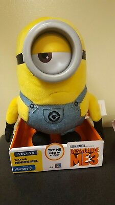 BRAND NEW Despicable Me 3 deluxe talking Mel minion.