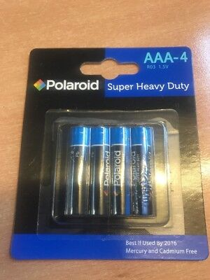 Polaroid AAA Batteries. 4 Pack. New. Just 99p Delivered.