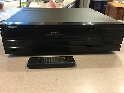 Vintage Pioneer CLD-980 CD CDV LD Player Laser Disc Player w/remote and cables