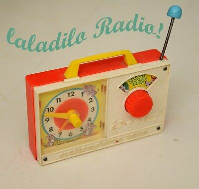 VINTAGE Fisher Price Kinder RADIO Hickory Dickory Dock original RETRO 60er 70er