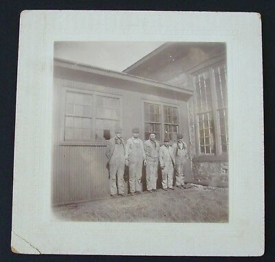 Factory Workers Late 1800's/Early 1900's Original Vintage Cabinet Photograph