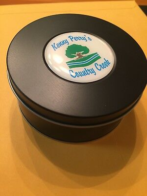 Kenny Perry Country Creek Golf Tin Can Container Divot Tool Holder, New!
