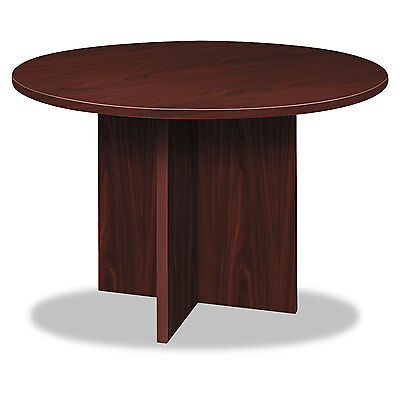 Basyx BL Laminate Series Round Conference Table 48 dia. X 29 1/2h Mahogany