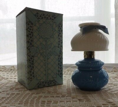 Vintage Avon Victorian Style Courting Lamp Decanter 70s Gift Brocade Cologne Box