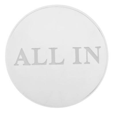 Exquisite Acrylic Clear ALL IN Button for Casino Party Table Game Supplies