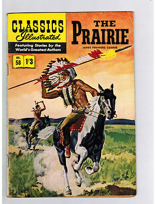CLASSICS ILLUSTRATED COMIC No. 58 The Prarie - 1/3  HRN 126