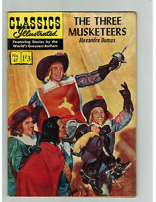 CLASSICS ILLUSTRATED COMIC No. 67 Three Musketeers - 1/3  HRN 129