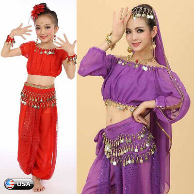 Women&Children Girl Belly Dance Costumes Kids Belly Dancing Egypt Dance Clothes