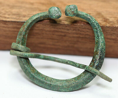 ANCIENT VIKING BRONZE Classic OMEGA  FIBULA BROOCH Men's Jewelry