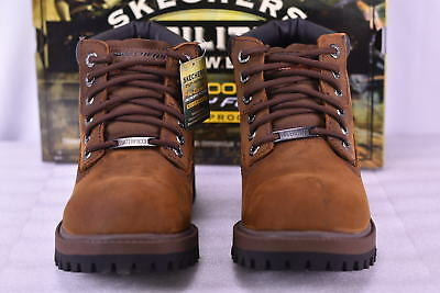 Men's  Skechers 4442/CDB Sergeants-Verdict Work Boots Dark Brown