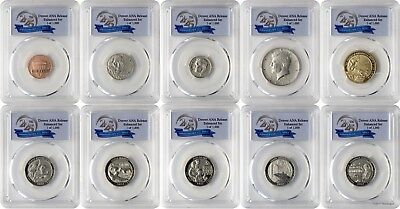 2017-S 10 Coin Set Denver ANA Enhanced Unc PCGS SP70 Denver Release 1 of 1000 FD