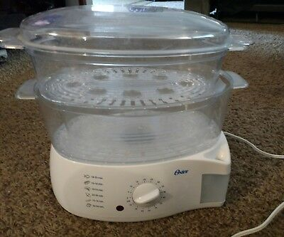 oster electronic 2 tier 6 1 quart food rice vegetable fish steamer rh picclick com