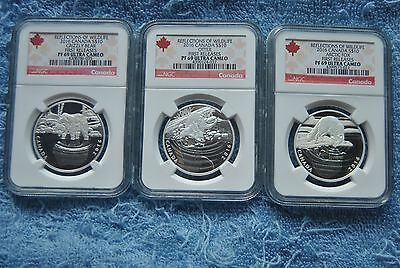 2016, Canada, $10, Reflections of Wildlife Set, NGC, PF69 UC, First Releases