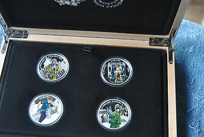 2016, Canada, $15, Colorized Canadian Heroes Set, with Box and COA's