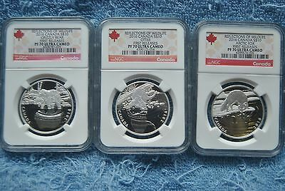 2016, Canada, $10, Reflections of Wildlife Set, NGC, PF70 UC, First Releases