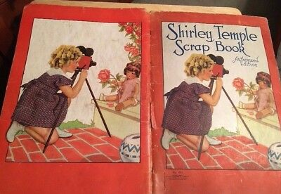 Vintage 1937 SHIRLEY TEMPLE Scrapbook COVER - FRONT & BACK COVERS ONLY