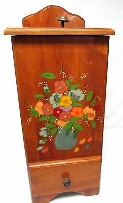 VINTAGE HAND Made WOOD VEGETABLE POTATO AND ONION STORAGE BIN BOX CONTAINER
