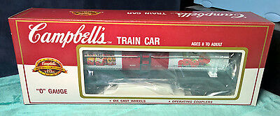 Campbell's V8 Juice ~ O Gauge Die Cast Wheels ~ Operating Couplers Train Car New