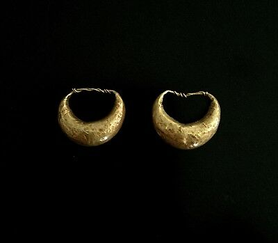 Nice Pair of Ancient Egypto-Roman Gold Earrings