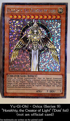 Yu-Gi-Oh! HOLOGRAPHIC ORICA| HORAKHTY, THE CREATOR OF LIGHT | Custom 'Dots' foil