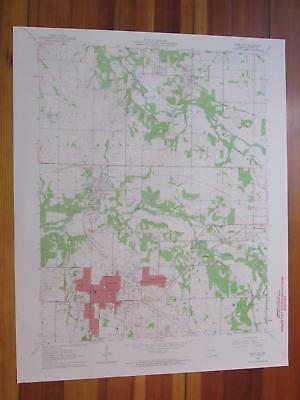 Webb City Missouri 1964 Original Vintage USGS Topo Map