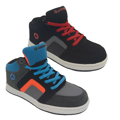Boys Shoes Airwalk Grind Skate Shoe Lace up Black or Grey Multi Size US 13-5 NEW