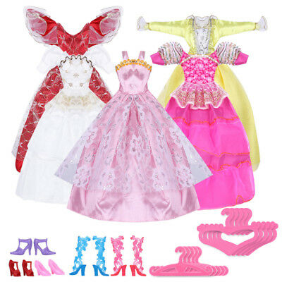 Showy Fashion Party Daily Wear Dress Outfits Clothes Shoes For Barbie Doll Hot